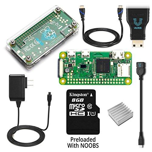 Raspberry Pi Zero W Complete Starter Kit--Includes Pi Zero W and 7 Essential Accessories