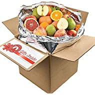 Gourmet Fruit Basket, (20lbs) of Oranges, Pears, Apples, and Grapefruit (32 pieces)