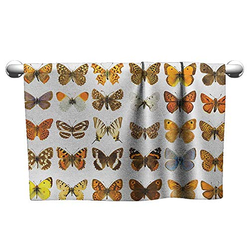 Pattern Towel W24 x L8 Butterfly,Butterfly Miracle Wings Joy Freedom Spiritual Feminine Divine Sign Concept Art, Multicolor a lot of ()