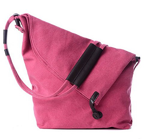 Light Bag Clutch Pink Women Zipper Shoulder Khaki Gmxba181462 Bags Canvas Casual l Agoolar OFWqpvO
