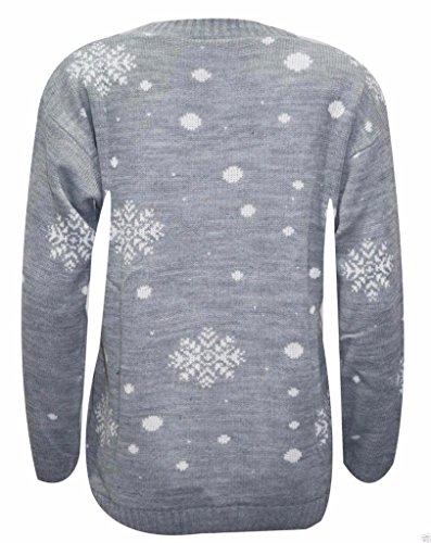 MKL Fashions - Jerséi - para mujer gris