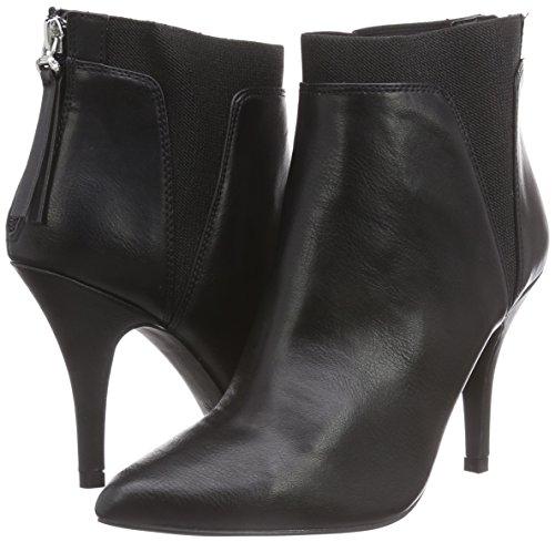 Sintético Schwarze Schwarz Botas look Strada Mujer Negro De La Material Black Pu Leder Stiefeletten 1901 8PRxT5