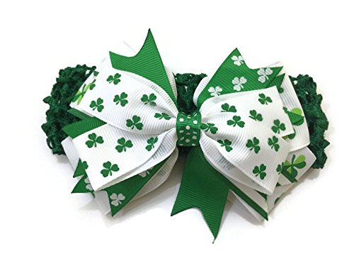 Rush Dance St Patrick's Day Stretch Baby Headband Lime White & ()
