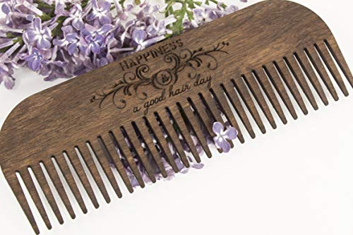 Wooden Comb 5.6x2x0.12 inches - Wooden Hairbrush - Hair Comb - Wooden Beard Comb - Father Beard Comb - Father Day Gift - Husband Beard Comb - Male Gift