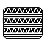 Laptop Sleeve Bag Black Stripes Lines Cover Computer Liner Package Protective Case Waterproof Computer Portable Bags