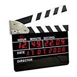 Director play board clock simple electronic LED alarm clock calendar wall clock 22.5 18.5 2.5CM