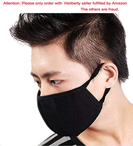 3-Pack Flu Dust Masks Reusable Activated Carbon Cotton N95 Filters Breathable Safety Respirator for Outdoor Cycling Half Face Earloop Masks Dust Pollen Flu Germs Allergens Surgical Masks for Women Men