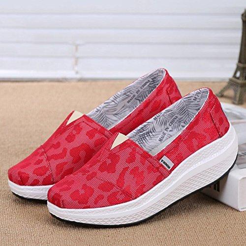 Chaussures Toile de Chaussures Chaussures Chaussures Fitness Chaussures Shake Printemps Sneakers de Chaussur Femmes B Mocassins Shaking Ons plats sport Shake Conduite Automne amp; Chaussures Slip Mocassins d5zw1wxqZ