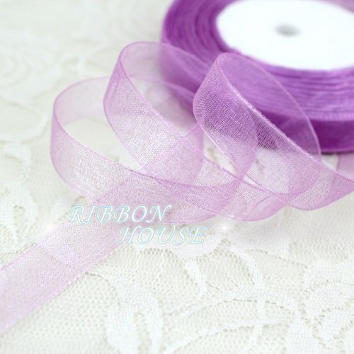 Decorations Wholesale Christmas (FunnyPicker (50 Yards/Roll) 1/2''(12Mm) Organza Ribbons Wholesale Gift Wrapping Decoration Christmas Ribbons Lavender)
