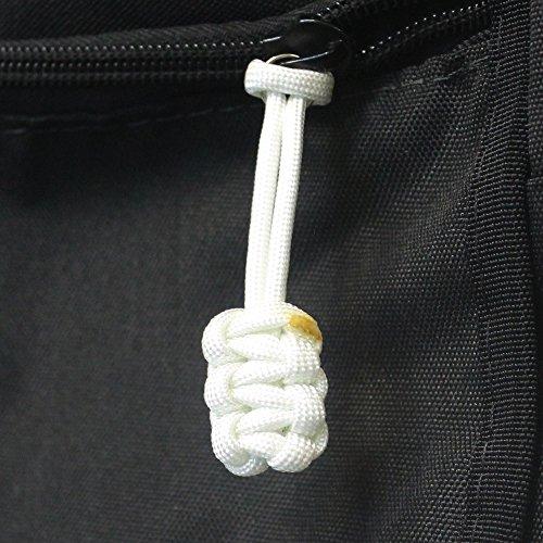 Bartact (Qty 5 550 Universal Nylon Paracord Zipper Pulls (White)
