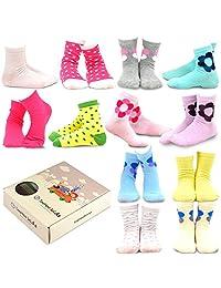 TeeHee (Naartjie) Kids Girls Cotton Basic Crew Socks 12 Pair Pack