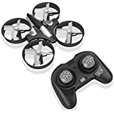 RCtown ELF Mini Drone for Kids, 2.4Ghz 6-Axis Gyro Headless Mode LED Lights Remote Control RC Quadcopter (Black)