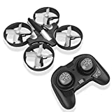 RCtown ELF Mini Drone for Kids 2.4GHz 4CH Mini UFO Quadcopter Drone with 6-Axis Gyro Headless Mode Remote Control Nano Quadcopter (Black)