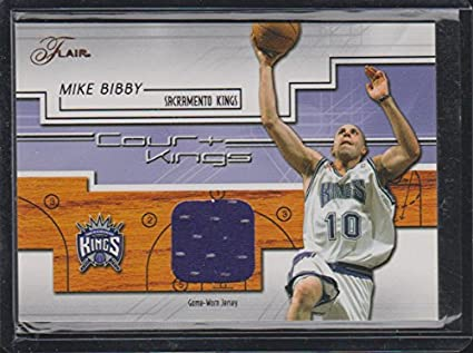 fd0d7a7e5830 2002 Flair Mike Bibby Kings Game Used Jersey Basketball Card  CK-MB ...