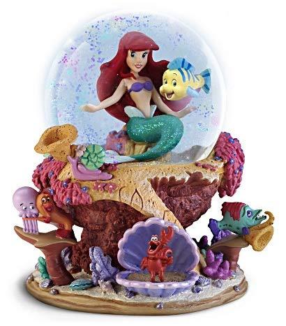 Disney The Little Mermaid Ariel Musical Glitter Bradford Exchange Globe