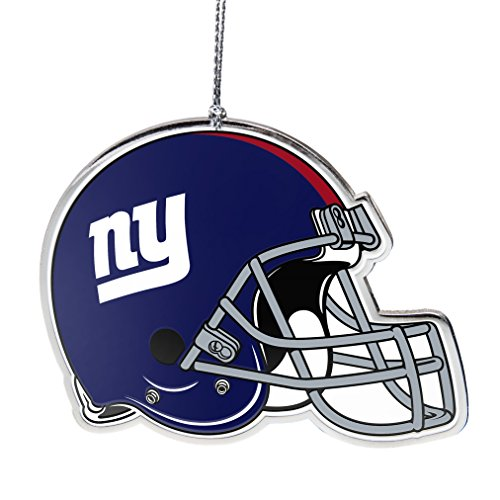 NFL New York Giants Flat Metal Helmet Ornament