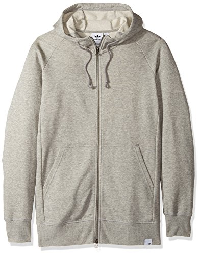 (adidas Originals Men's Outerwear X by O Full Zip Hoodie, Medium Grey Heather, Large)