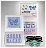 Stereo Butterfly Acuity Chart with Symbols and Shapes, Adult & Child Goggles Included