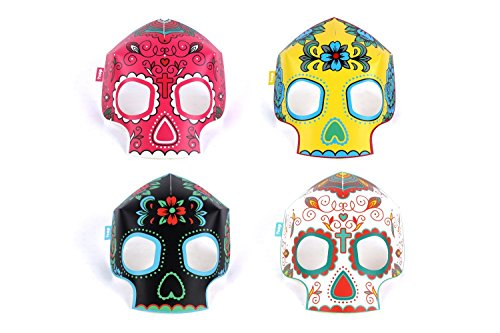 [Glow In The Dark Skull Masks (8 Masks)] (Childrens Nacho Libre Costume)