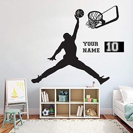 Etiqueta De La Pared, Jugador De Baloncesto Vinilo Etiqueta ...