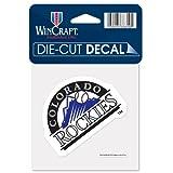 "Colorado Rockies Official MLB 4""x4"" Die Cut Car Decal by Wincraft"