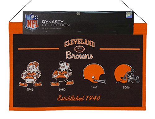 (Cleveland Browns NFL Embroidered Wool Hanging Dynasty Banner)