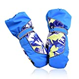 SZHOWORLD Kids Toddler Baby Ski Snowboarding Windproof Waterproof Stay On Winter Youth Mittens Gloves Boys Girls