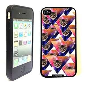 Shawnex Springink Hipster Cat Face Triangles Thinshell Case Protective ip4 Case