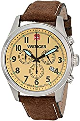 Wenger Men's 0543.105 Analog Display Swiss Quartz Brown Watch