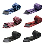 Tiger Mama 6pcs Business Fashion Necktie Tie Mixed Lot