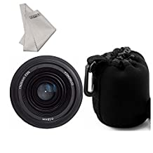 YONGNUO YN35mm F2.0 Lens F2N 1:2 AF MF Wide-Angle Fixed Prime Auto Focus +INSEESI Clean Cloth +Lens Pouch Bag for Nikon cameras (Replacement for NIKKOR 35mm f/1.8G)