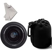 YONGNUO YN35mm F2.0 Lens F2N 1:2 AF MF Wide-Angle Fixed Prime Auto Focus +INSEESI Clean Cloth + Mini Lens Pouch Bag for Nikon cameras (Replacement for NIKKOR 35mm f/1.8G)