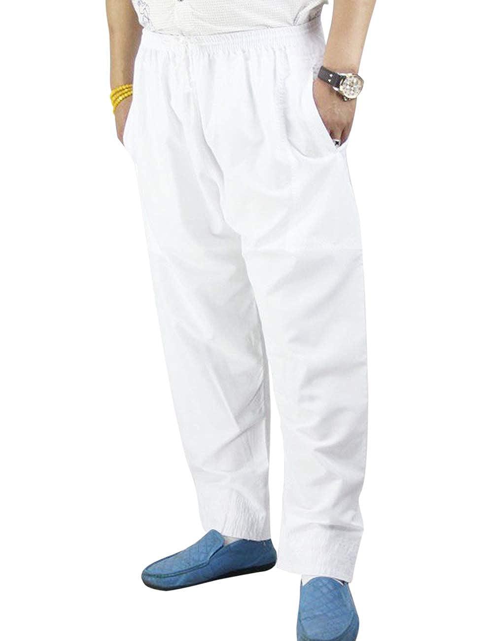 TALLA XL. besbomig Suelto Musulmanes Culto Pantalones Hombres Casual Yoga Pantalon - Turco Dubai Pantalones para Pilates Al Aire Libre Viajar