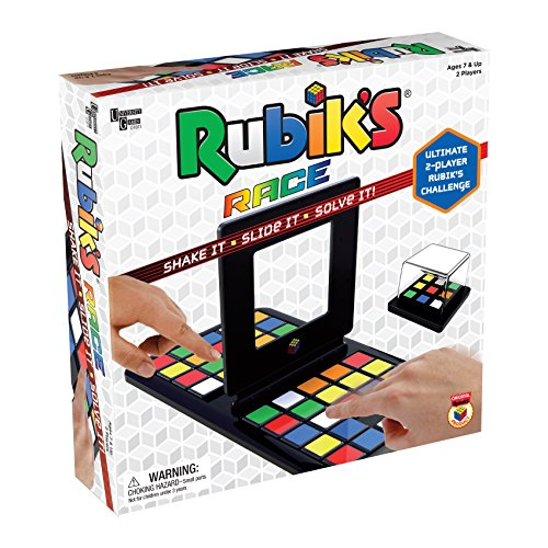 Rubik's Race Game, Head To Head Fast Paced Square Shifting Board Game Based On The Rubiks Cubeboard, for Family, Adults and Kids Ages 7 and Up from University Games