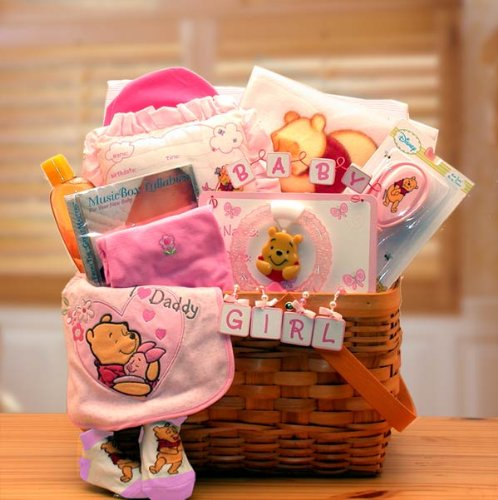 Baby Gift Basket Winnie The Pooh New Baby Gift Baskets Associates Gift Collection