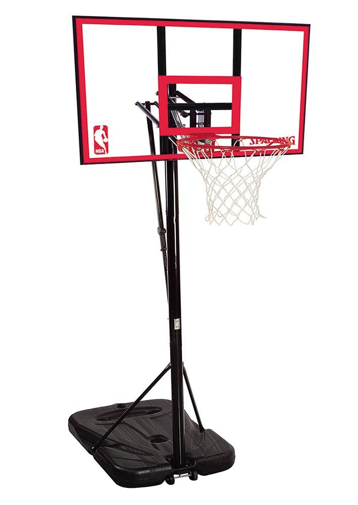 Spalding NBA Portable Basketball System - 44'' Polycarbonate Backboard