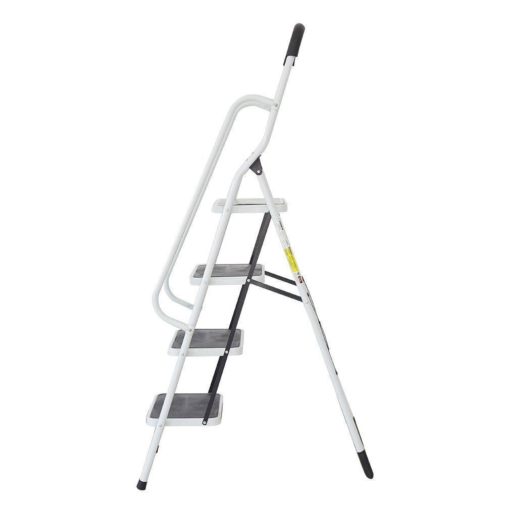 KARMAS PRODUCT Folding 4 Step Ladder with Handrails for Home,Anti-Slip Safty Steel Step Stool 300LB by KARMAS PRODUCT (Image #5)