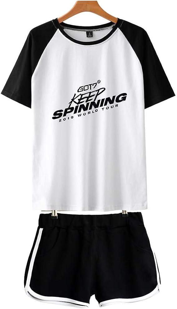 KPOP GOT7 T-Shirts + Pantalones Cortos Set Keep Spinning Camisa de ...