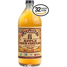 Clarke's Apple Cider Vinegar Clarkes RAW Unfiltered With The Mother Unpasteurized Naturally Gluten Free Made From Organic Apples