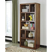 Lobink Contemporary Design Warm Brown Finish Home Office Bookcase Book Case