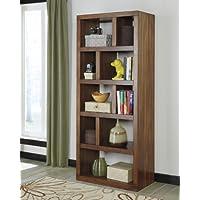 Lobink Contemporary Design Warm Brown Finish Home Office Bookcase Book Case