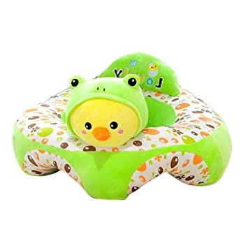 Luerme Cartoon Large Learning Chair Baby Support Seat Plush Soft Baby Safety Sofa Infant Baby Learning to Sit Chair
