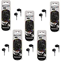 Panasonic ErgoFit In-Ear Earbud Headphones - 5 Pack (Black)