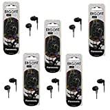 Panasonic ErgoFit RP-HJE120-K Noise Isolating Black Earbud Headphones (5-Pack)