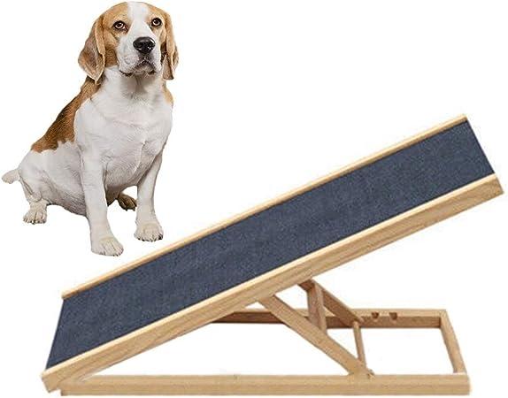 HYDT Perro Grande Mascota Coche Rampa Escalera Madera, Bajo Techo, en Exteriores Rampa Plegable para Escaleras de Mascotas con Ajuste de Altura (Size : 100×40×(30-40-50-60) cm): Amazon.es: Hogar