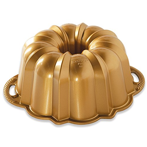 Nordic Ware 50077 Anniversary Bundt, 12 Cup, Gold -