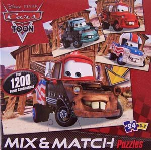 Disney Pixar Cars Mix 'n Match 24 pc Puzzle (Pixar Cars Disney Puzzle)