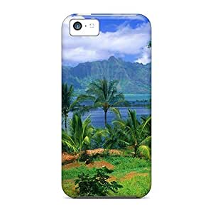 Fashion Tpu Case For Iphone 5c- Kaneohe Fish Pond Hawaii Defender Case Cover