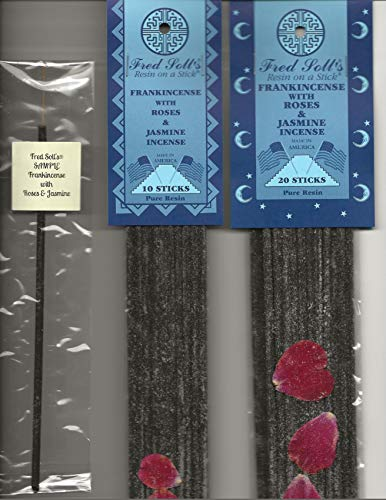 FRED SOLL'S Resin ON A Stick Frankincense with Roses & Jasmine Incense (20) ()