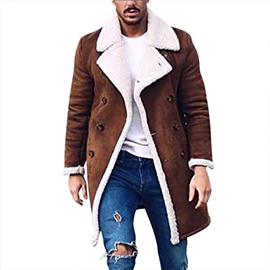 new concept fashionable and attractive package watch WUYIMC Hot Men's Coats Tops, Wool Jacket Warm Winter Trench ...